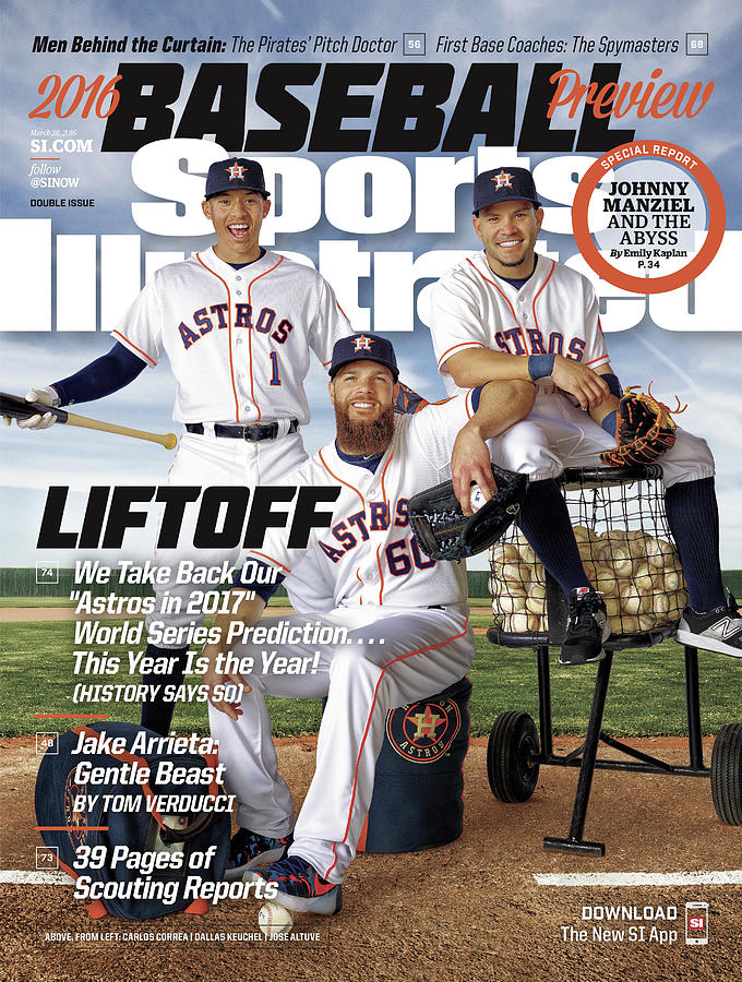 Liftoff, 2016 Mlb Baseball Preview Issue Sports Illustrated Cover Photograph by Sports Illustrated