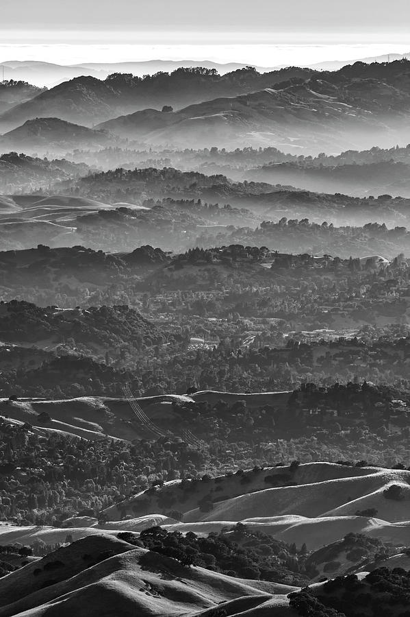 Light and Shadow on the Hills by Lisa Malecki
