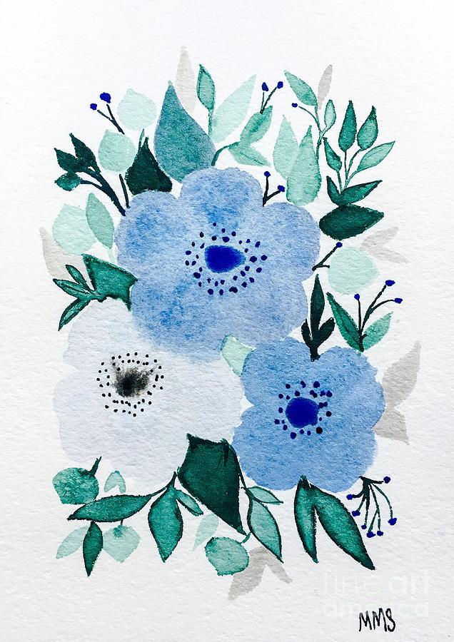 Light Blue Floral Bouquet by Marti Magna