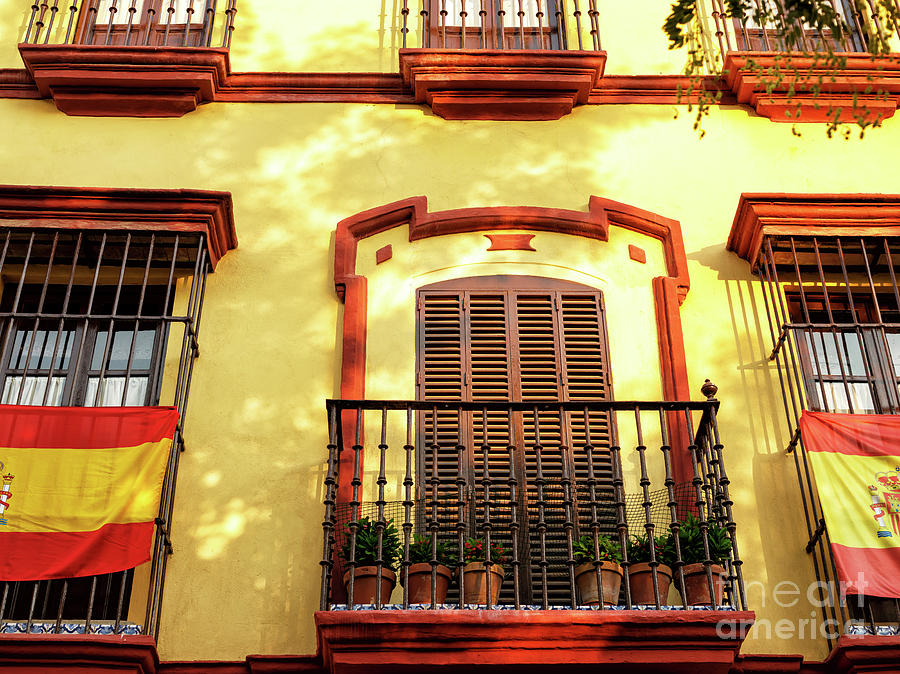 Light Falls on the Building in Seville by John Rizzuto