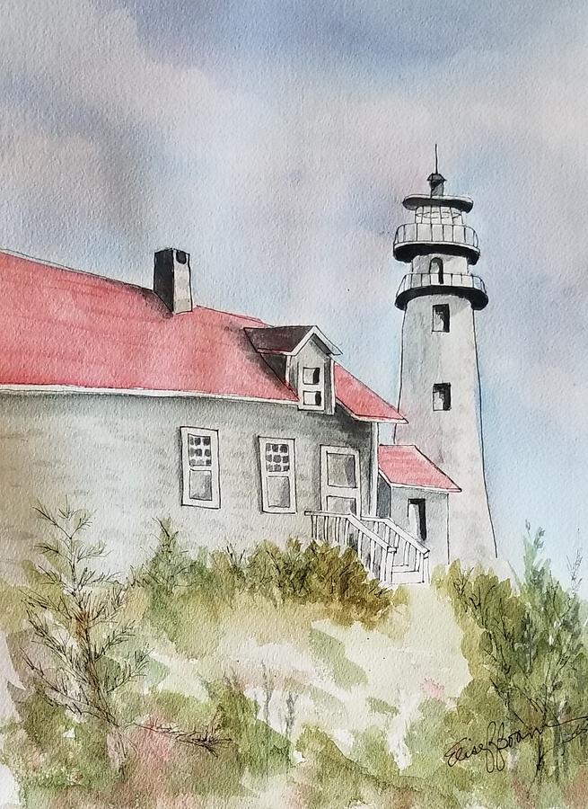 Light House on the Beach by Elise Boam