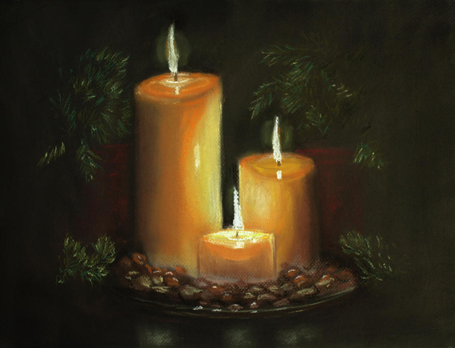 Still Life Painting - Light In The Darkness by Dorothy Riley
