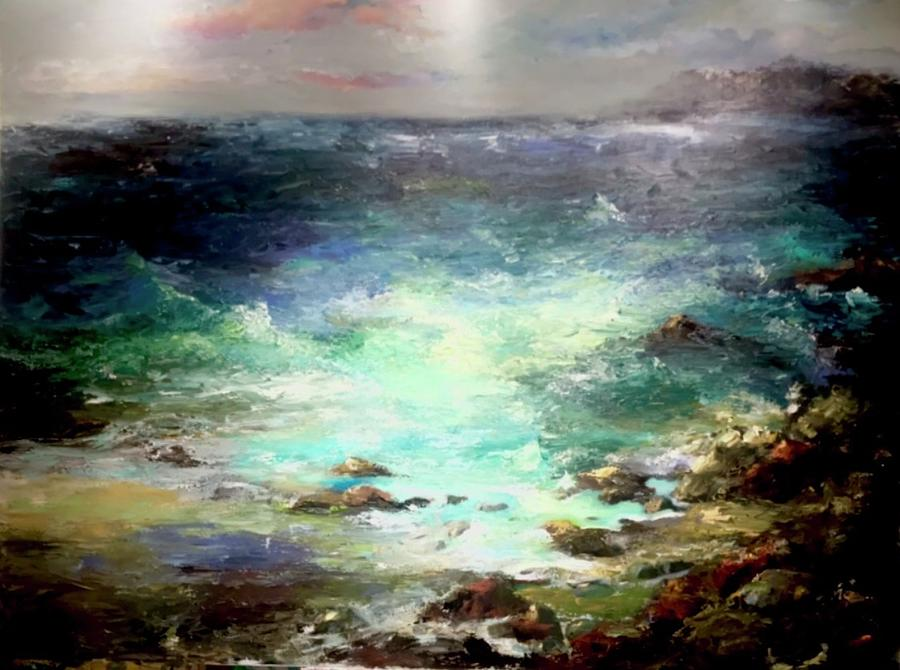 Seascape Painting - Light Of The Silvery Moon by Heather Roddy