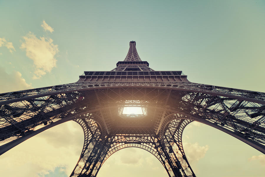Light Shining Through Eiffel Tower Photograph by Philipp Klinger