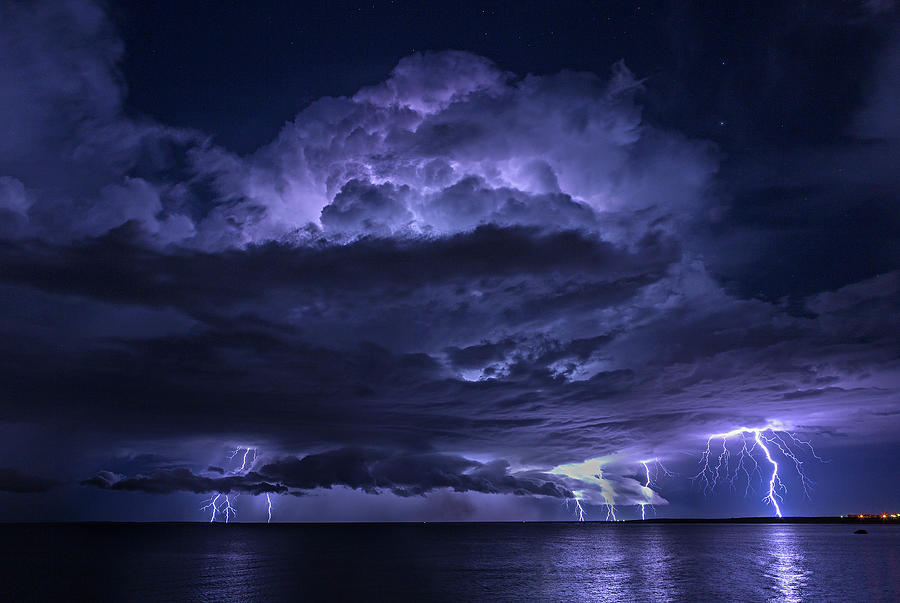 Light Show At Cooke Point, Port Hedland Photograph by Simon Phelps Photography