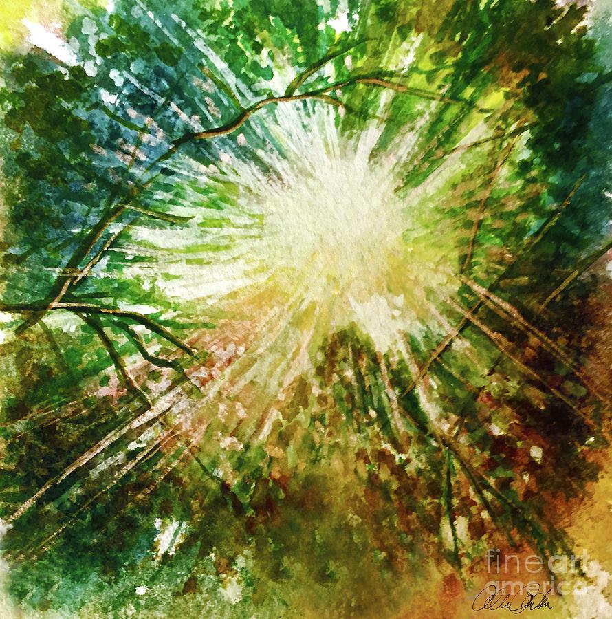 Light Through Trees Painting
