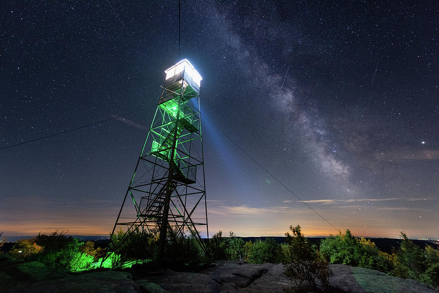 Hadley Photograph - Light Up The Night by Brad Wenskoski