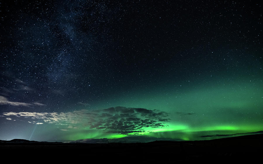 Iceland Photograph - Light up the Sky by Framing Places