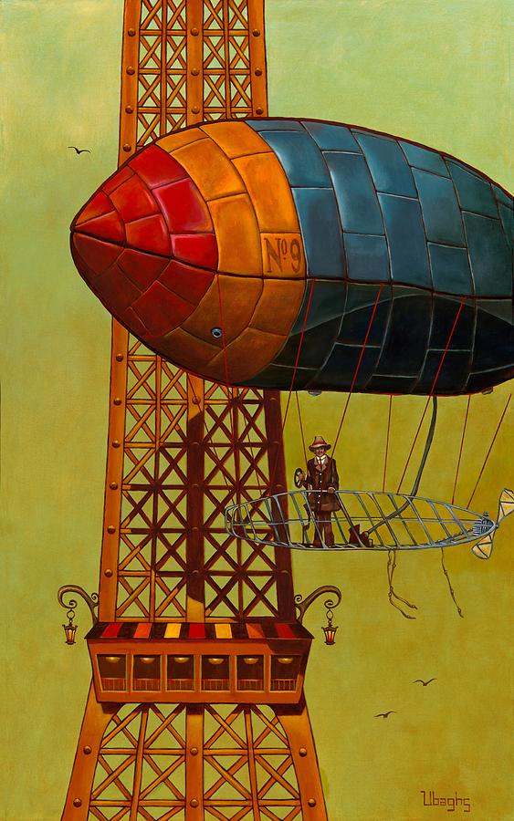 Dirigible Painting - Lighter Than Air by Bryan Ubaghs