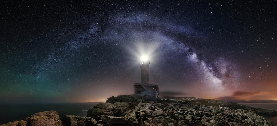 Lighthouse And Milky Way Photograph by Carlos F. Turienzo