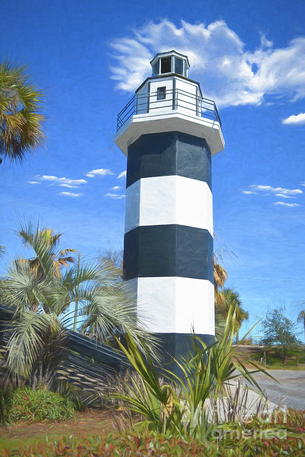 Lighthouse At Shem Creek by Kathy Baccari