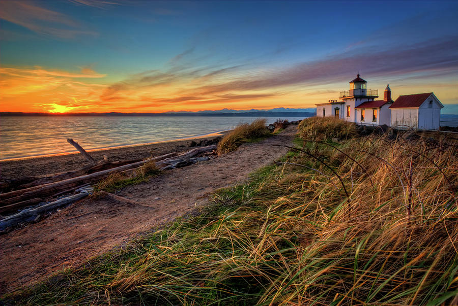 Lighthouse At Sunset Photograph by Photo By David R Irons Jr