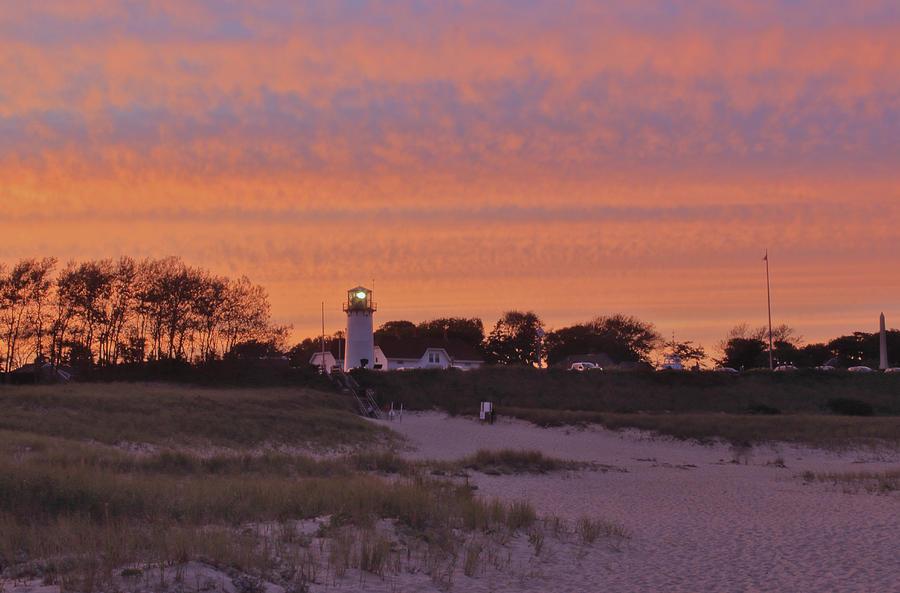 Lighthouse Beach Sunset by John Burk