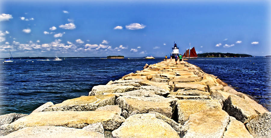 Lighthouse Breakwater Pathway by Catherine Melvin
