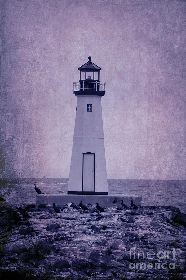 Lighthouse In Patchogue by Karen Silvestri