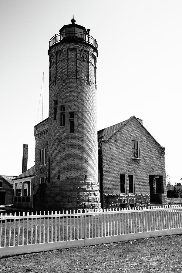 Lighthouse - Mackinac Point Michigan 4 Bw Photograph