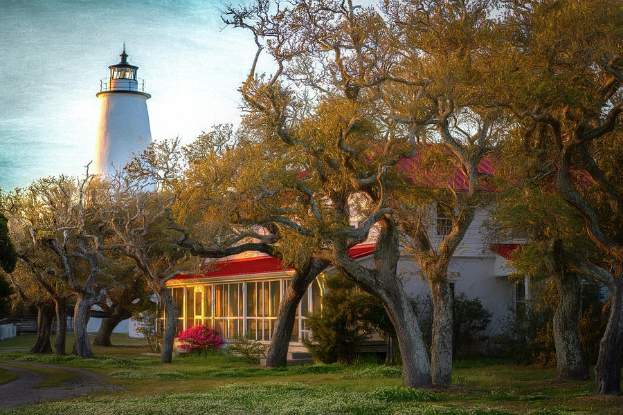 Lighthouse Ocracoke Island by Cindy Lark Hartman