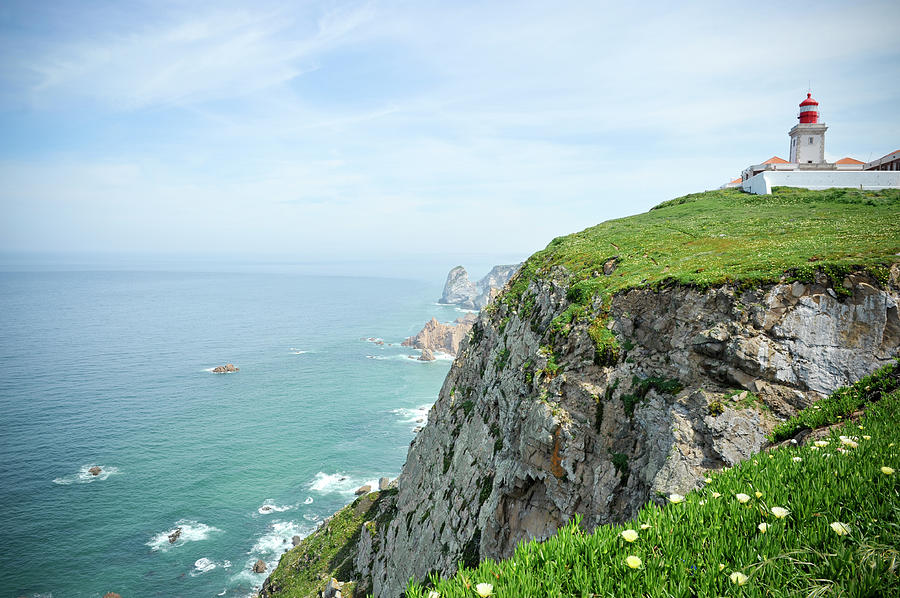 Lighthouse Of Cabo Da Roca, Portugal Photograph by Brytta