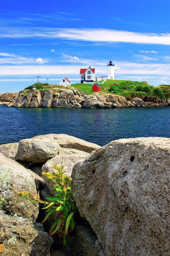 Lighthouse, York Beach, Cape Neddick Photograph by Slow Images
