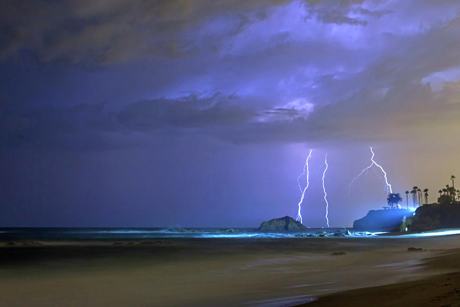 Lighting over the Montage Resort by Cliff Wassmann