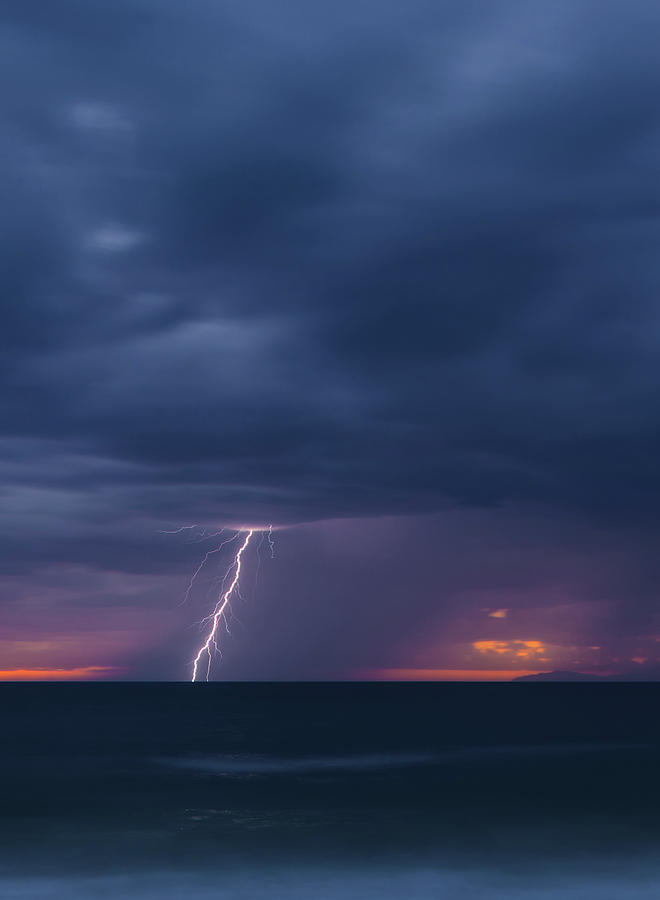 Lighting over the Ocean by Cliff Wassmann