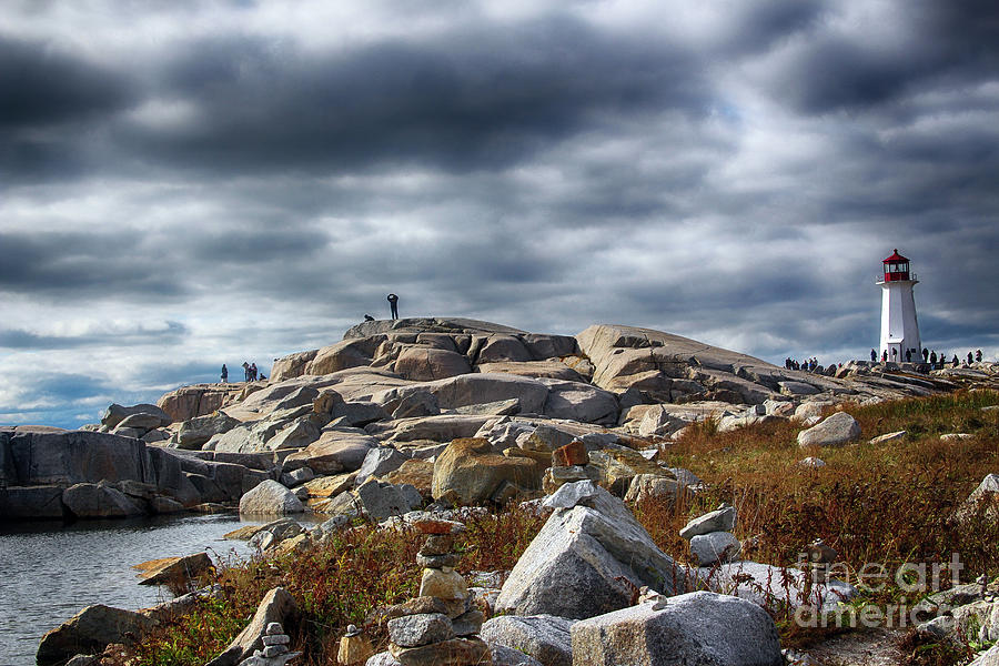 Peggy's Cove Photograph - Lighting Peggys Cove by Steven Digman