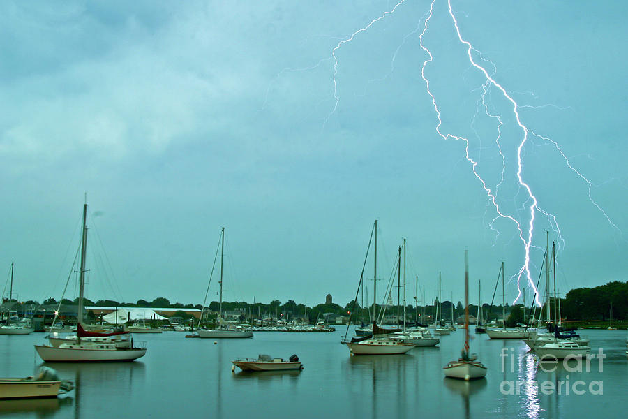 Lightning Over the Harbor by Butch Lombardi