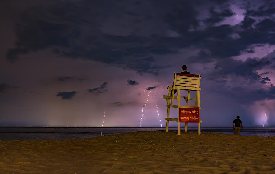 Lightning Storm On The North Shore Of Long Island by Sean Comiskey