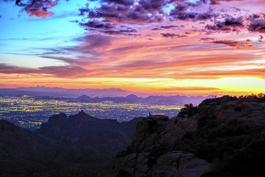 Lights of Tucson at Sunset by Chance Kafka