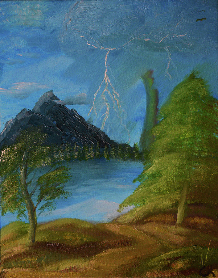 Lightning Painting - Ligtning Mountain by Chance Kafka
