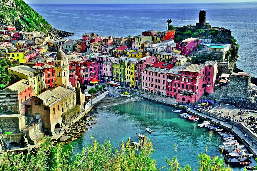 Vernazza Photograph - Ligurian Seaside Gem by Frozen in Time Fine Art Photography