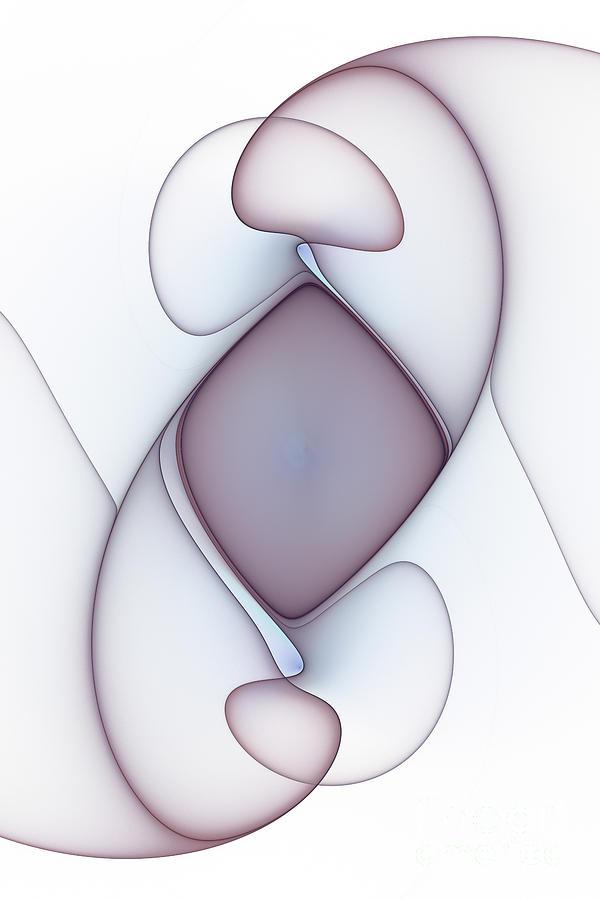 Lilac Fractal Abstract by Ann Garrett
