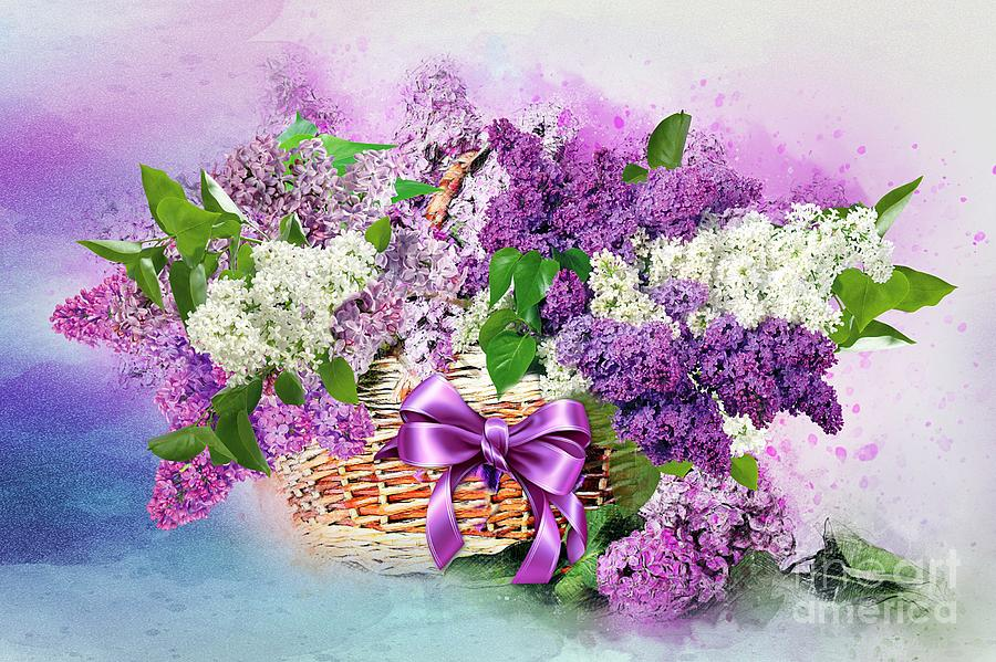 Lilac  in a Basket by Morag Bates