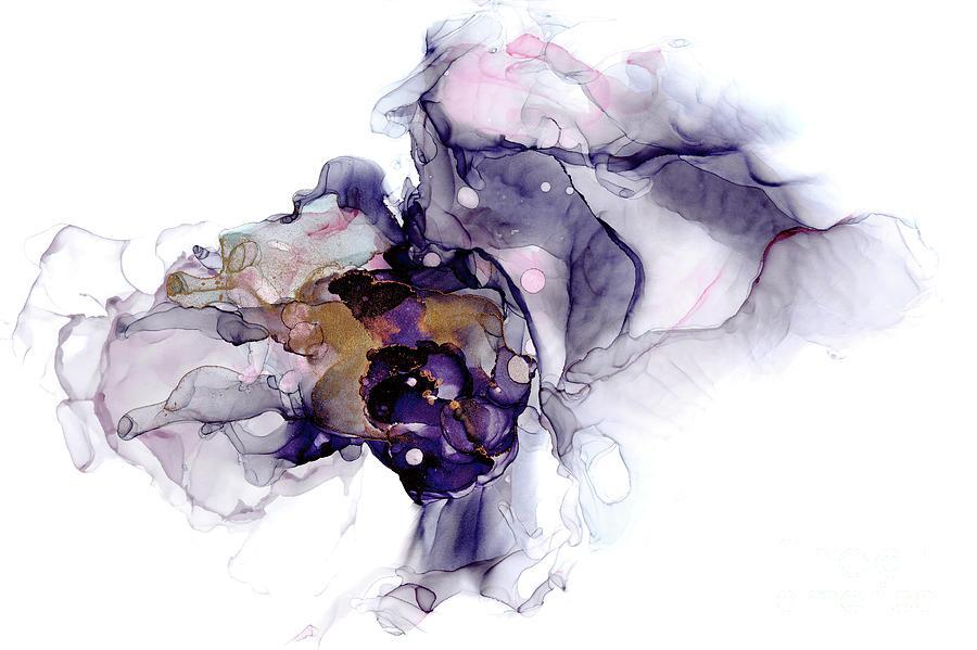 Lilac Ink Art by Ann Garrett