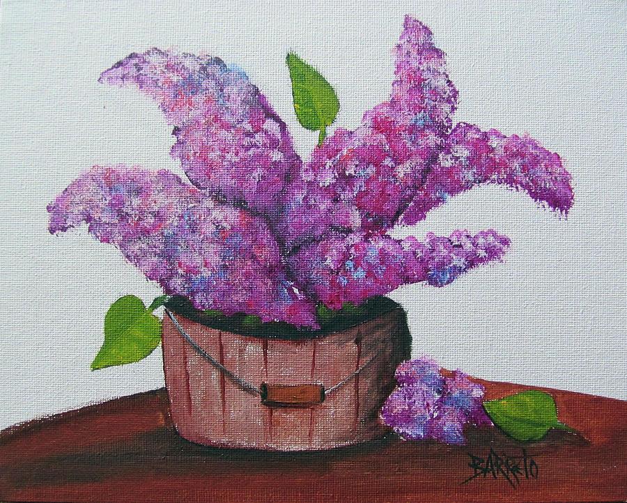 Lilacs by Gloria E Barreto-Rodriguez