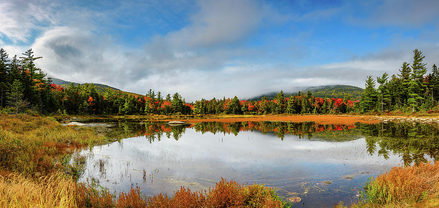 Lilly Pond Kancamagus Pano by Michael Hubley