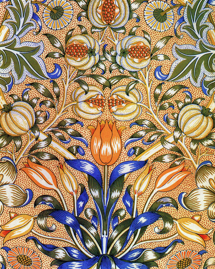 Lily Painting - Lily And Pomegranate - Digital Remastered Edition by William Morris