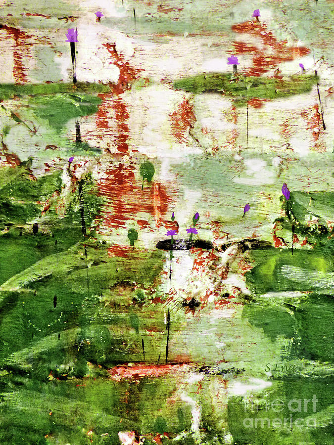 Lily Pond Abstract 300 Painting
