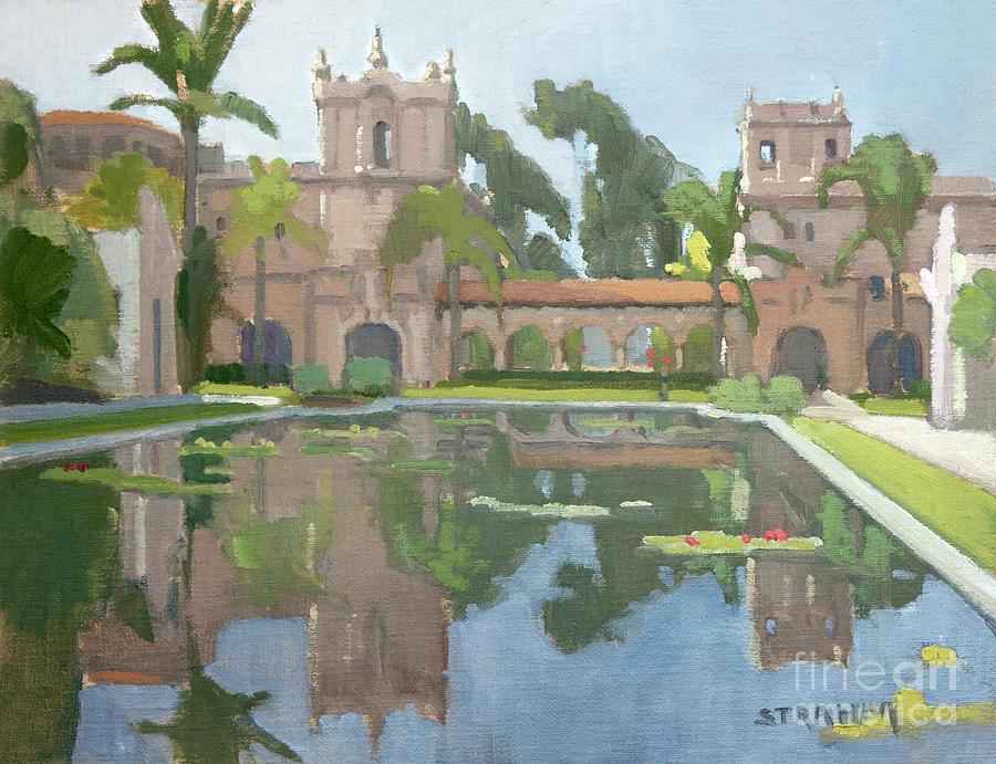 Reflection Pond Balboa Park San Diego by Paul Strahm