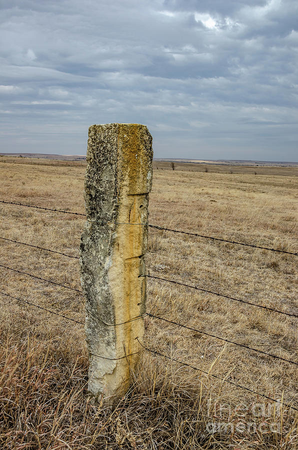 Limestone Fence Post by Sue Smith