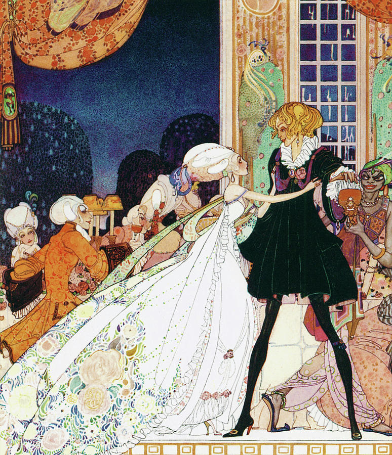 Princess Painting - Lina, The Youngest Princess Who Stops Michael Trying To Take Medicine To Become A Dance Doll by Kay Nielsen