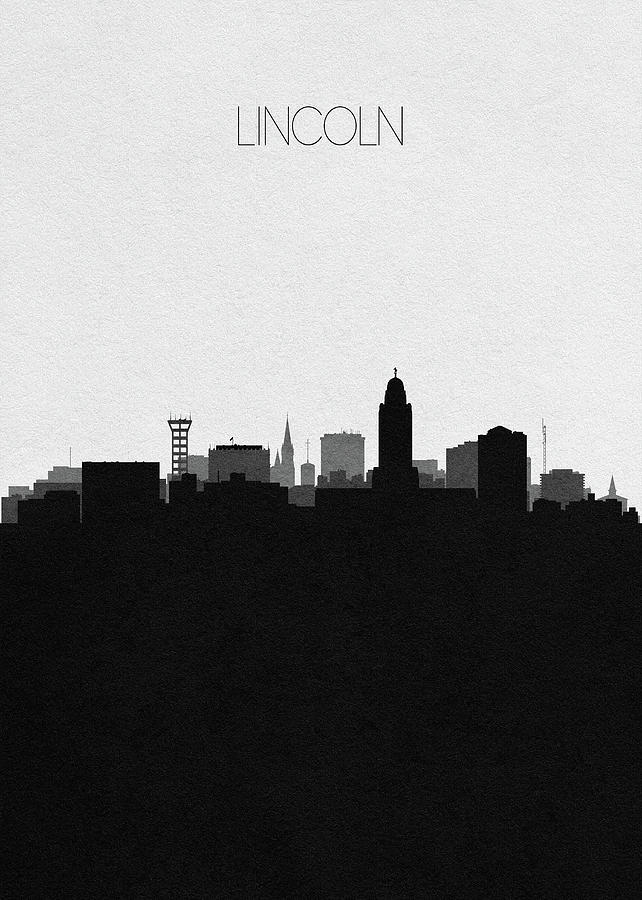 Lincoln Digital Art - Lincoln Cityscape Art by Inspirowl Design
