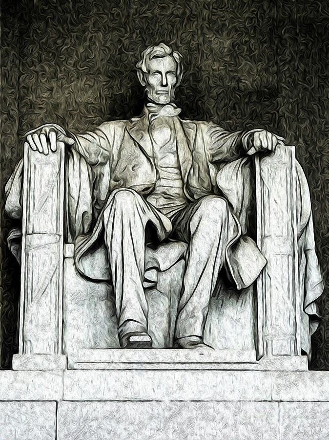 Lincoln Memorial Digital Art by Kenneth Montgomery