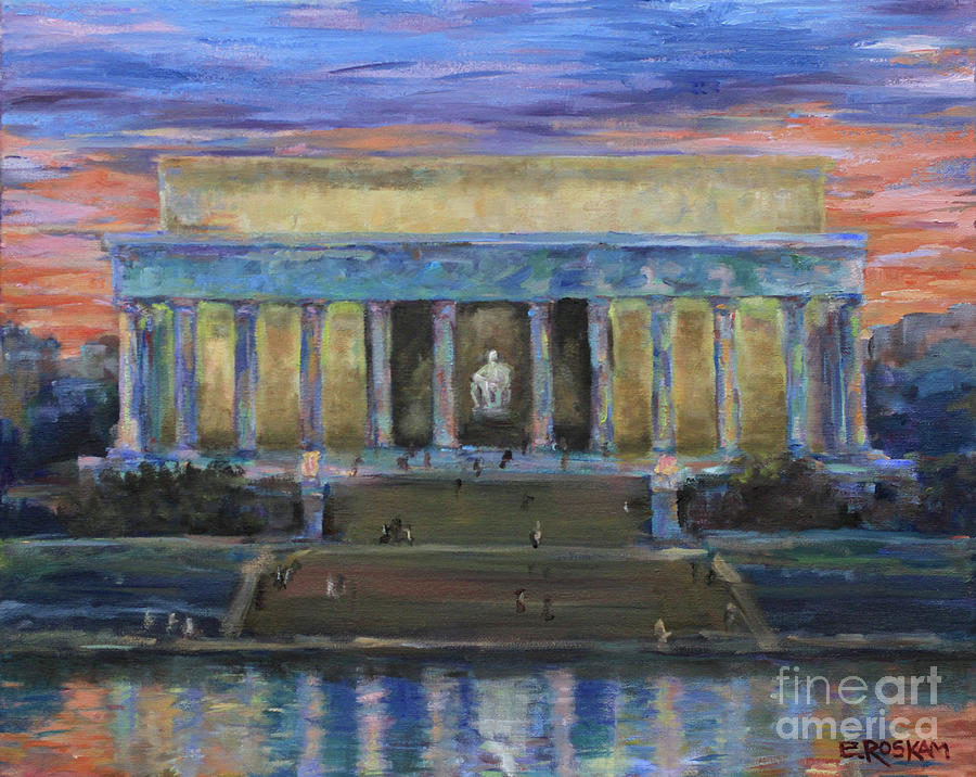 Lincoln Painting - Lincoln Reflects by Elizabeth Roskam