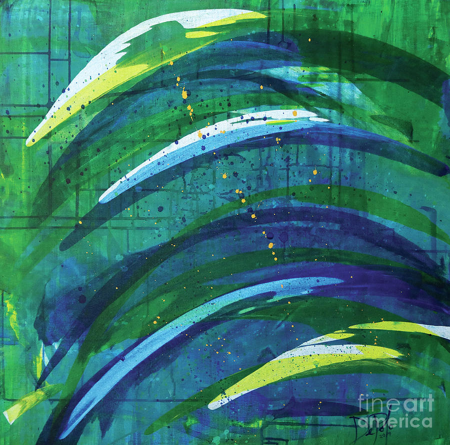 Abstract Painting - Linear World by JoAnn DePolo