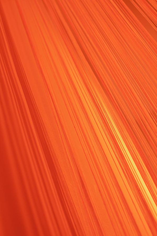 Lined Gradient Of Orange Photograph by Ralf Hiemisch