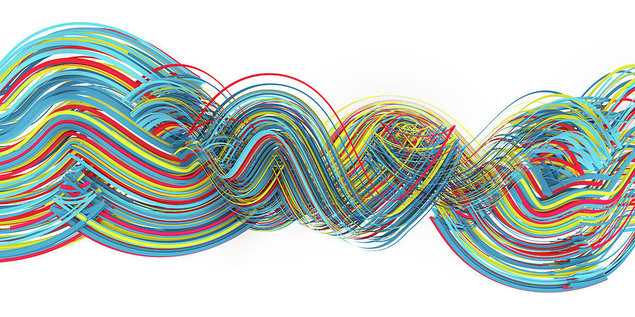 Primary Digital Art - Lines and Curves 4 by Scott Norris