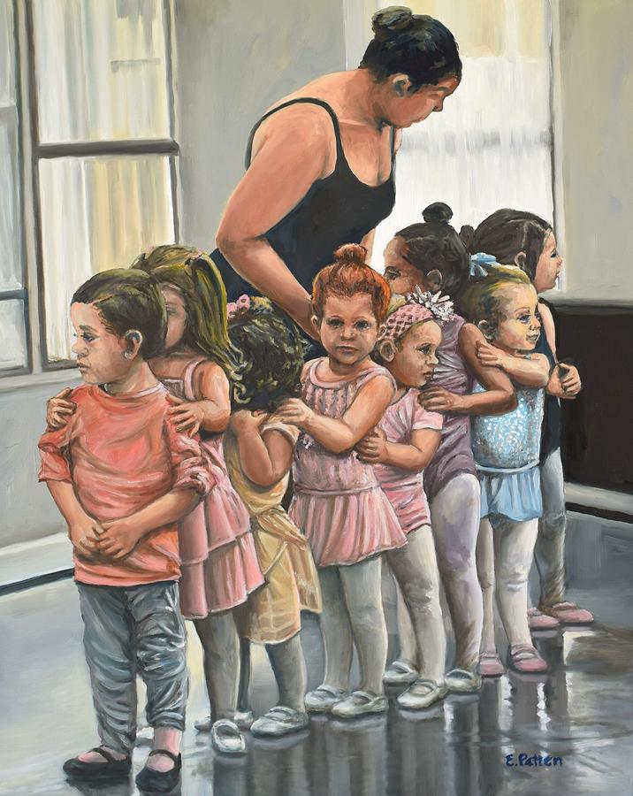 Lining Up For Dance Class by Eileen Patten Oliver
