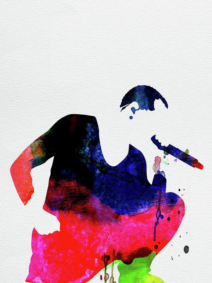Linkin Park Mixed Media - Linkin Park Watercolor by Naxart Studio