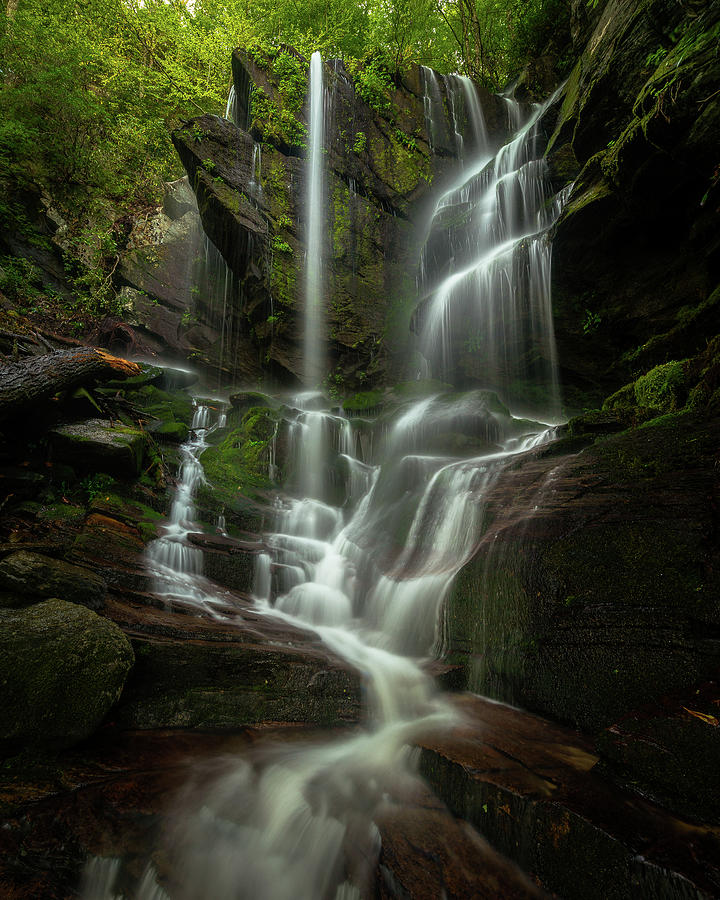 Linville Gorge Photograph - Linville Gorge - Waterfall by Mike Koenig